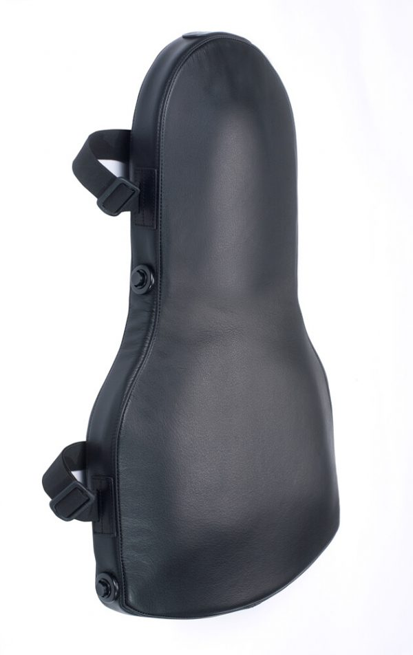 Back Support Cushion Black Leather